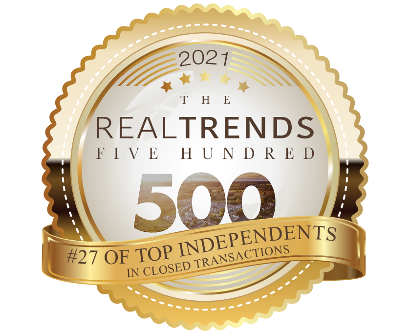 2021 Real Trends 500 Top Independents Award