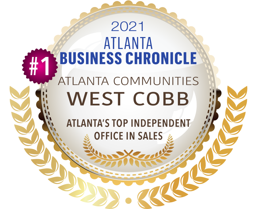 2021 Atlanta Business Chronicle Top Independent Office Sales Award