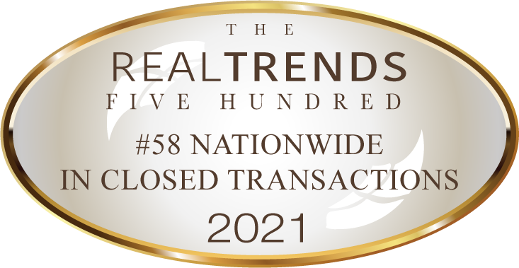 2021 Real Trends 500 Closed Transactions Award