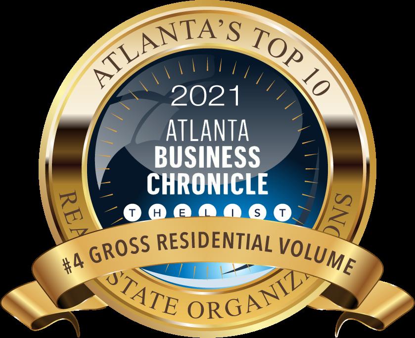 2021 Atlanta Business Chronicle Gross Residential Volume Award