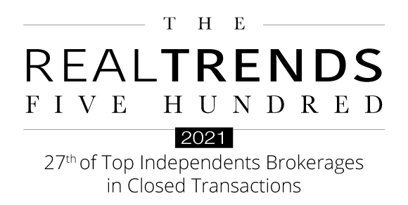 2021 Real Trends 500 Independent Brokerage Closed Transactions Award