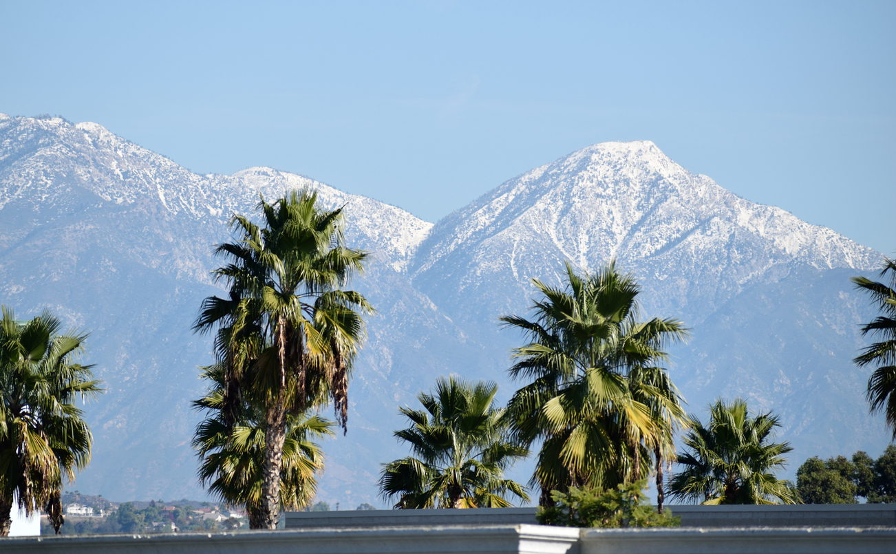 View of Mountains in San Gabriel Valley