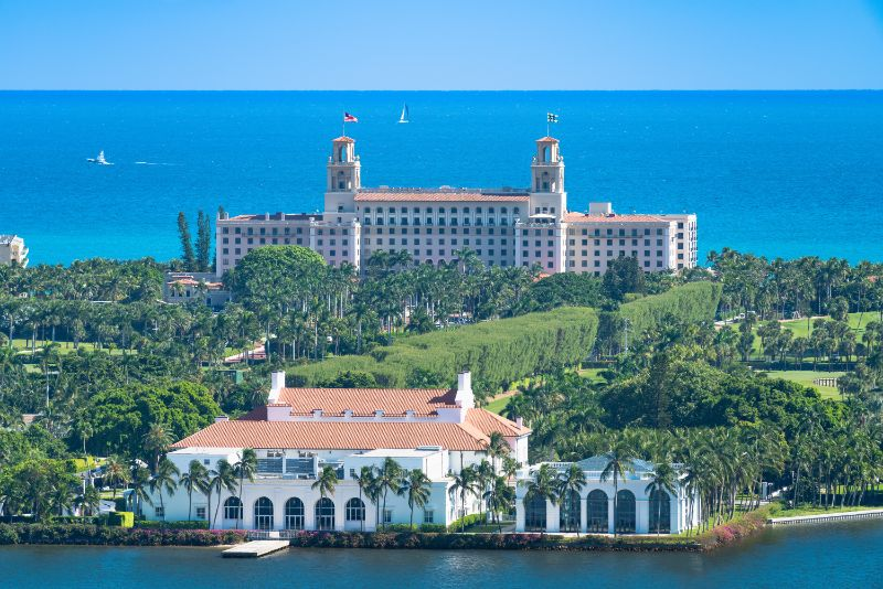 large resort building in palm beach