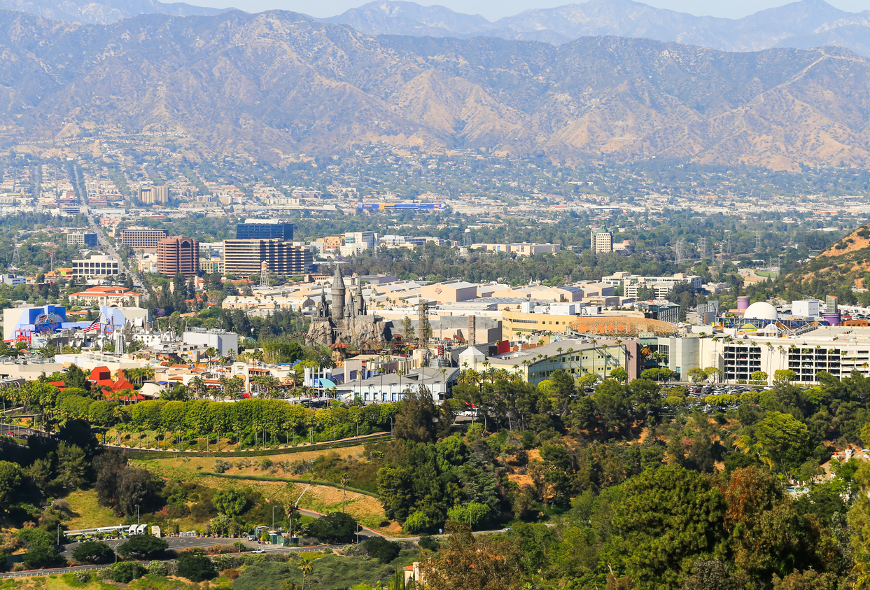 san Fernando valley with buildings