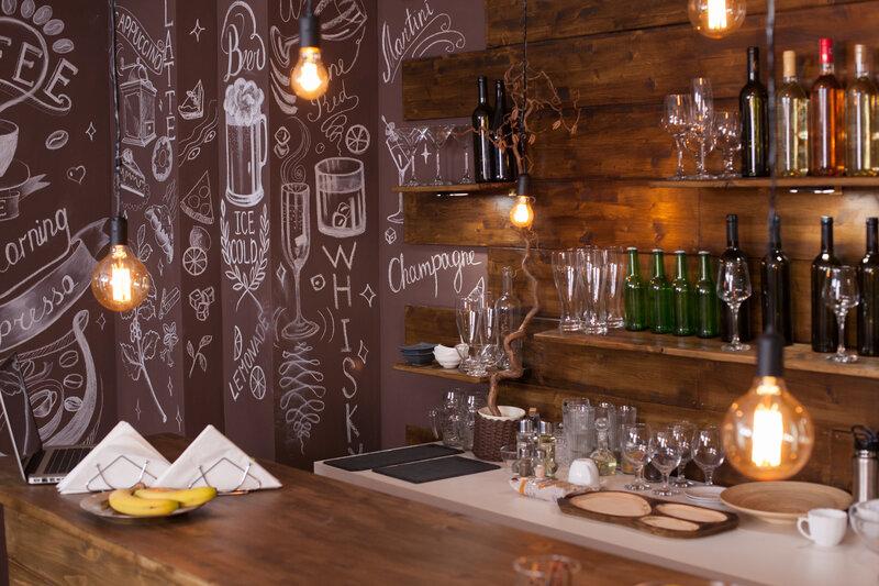 Kitchenette with Wine bottles