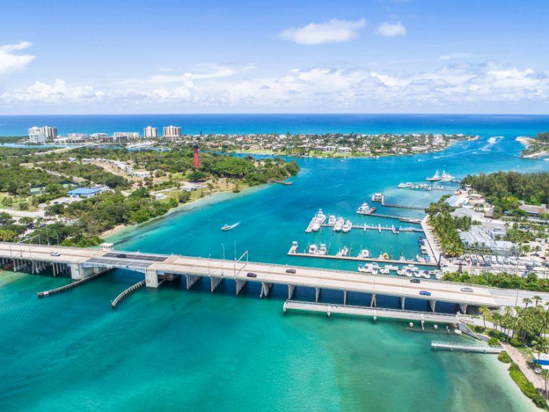 Large resort with small bridge