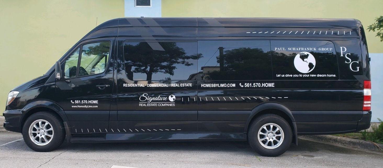 home tour van limo