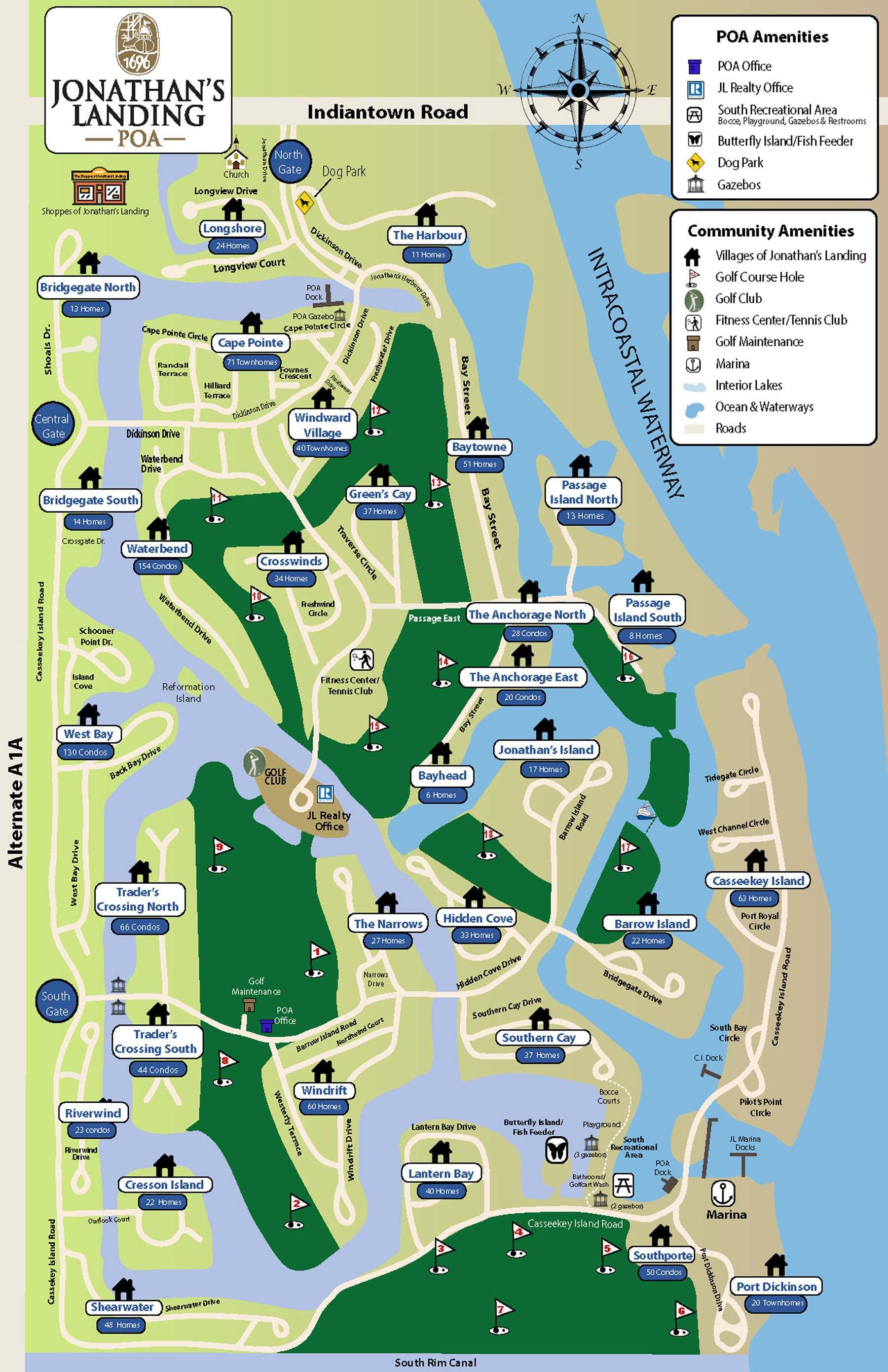 Map of Jonathan's Landing Community
