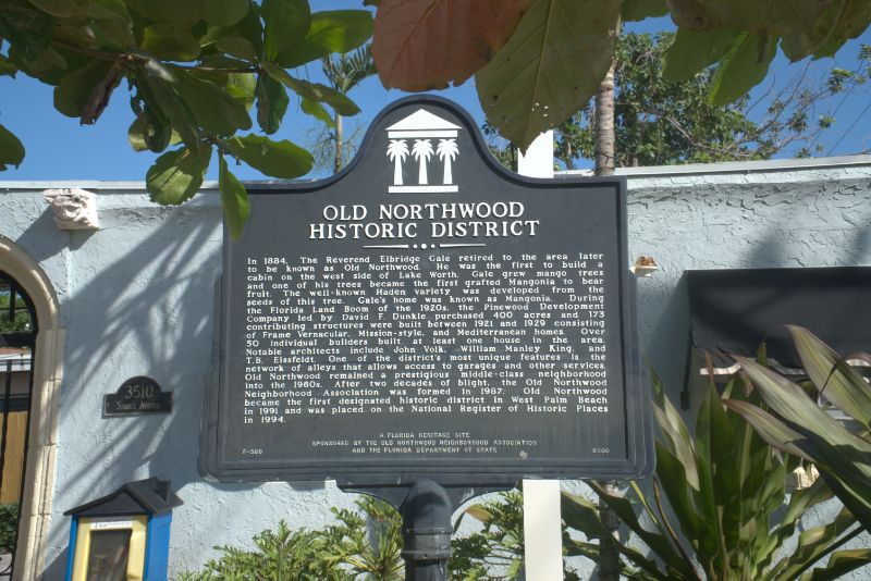 old northwood history sign on post