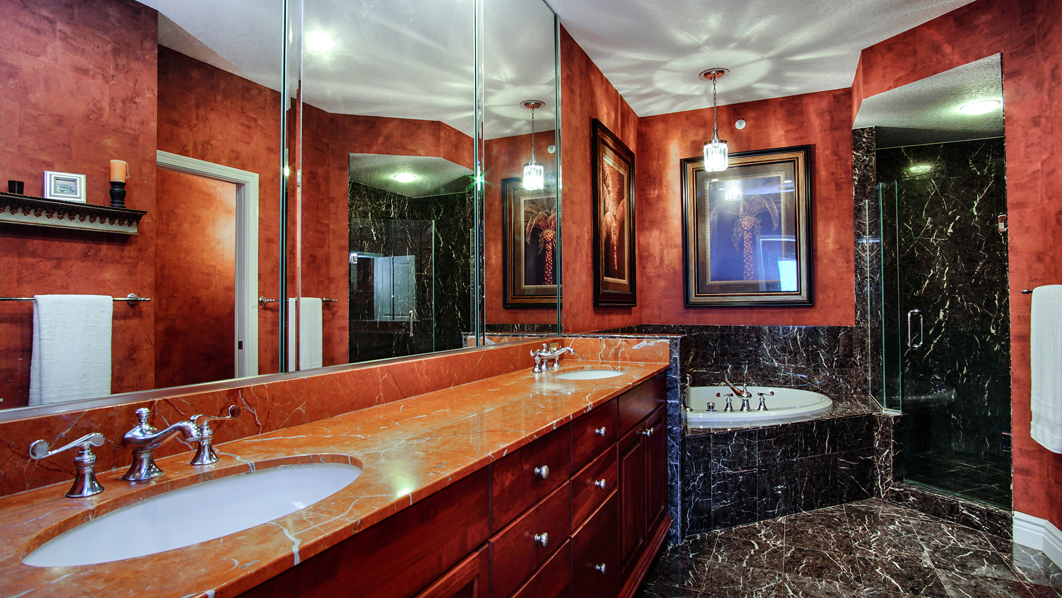 Master Bath with imported marble