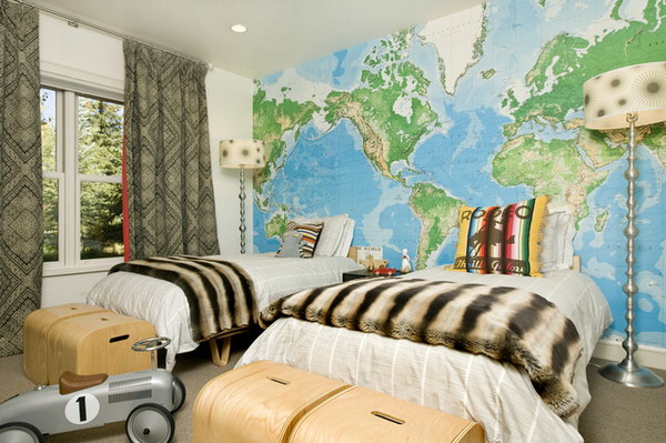 World Map Wall Mural - Lisa Birdsong
