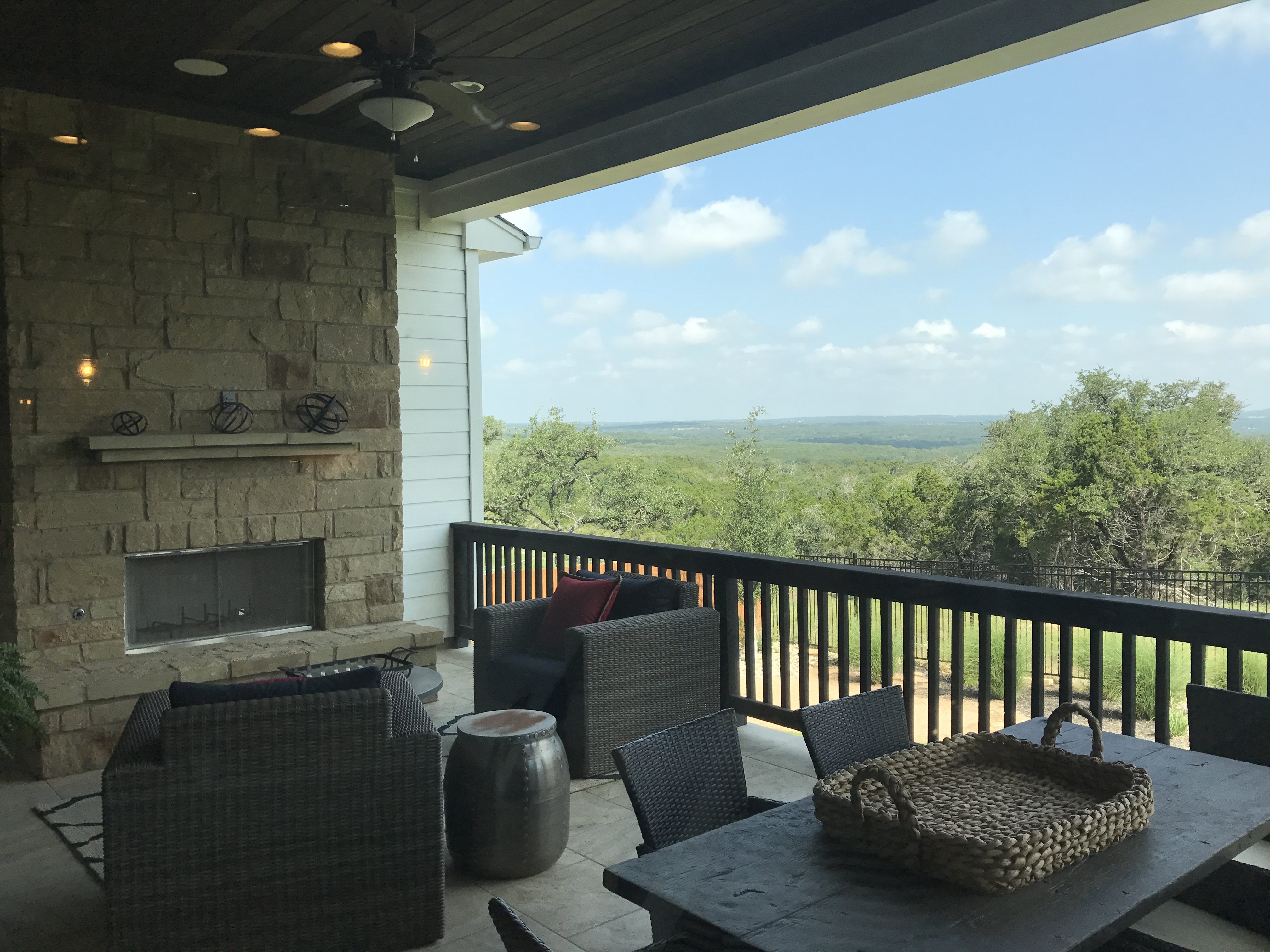 Panoramic views from a model home balcony in Headwaters- WOW
