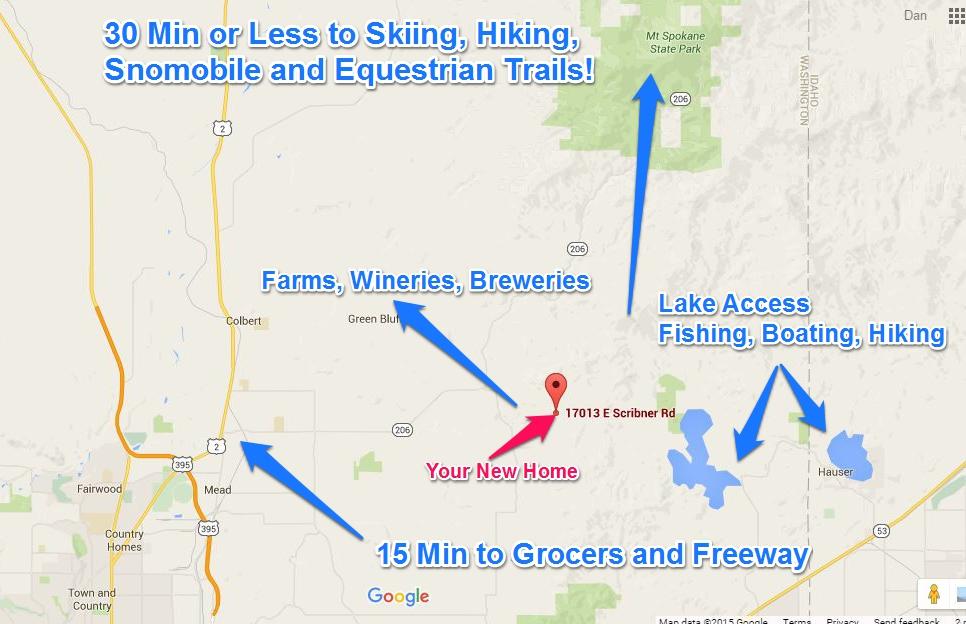 17023 E Scribner Spokane WA Lifestyle Map