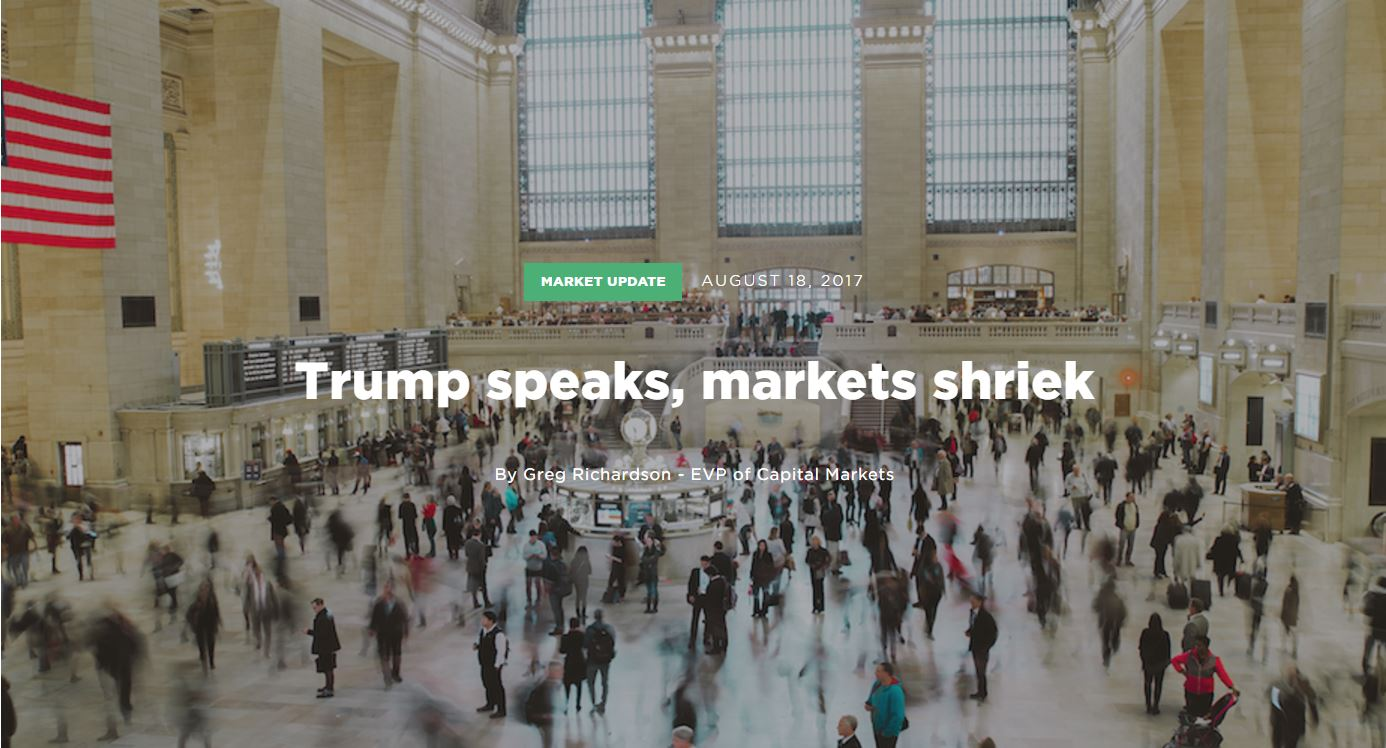 Trump Speaks, Market Shrieks