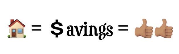 Homeownership means savings
