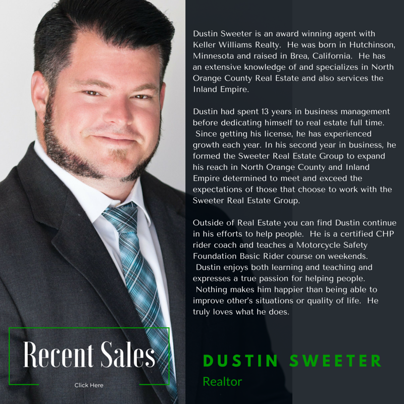 Dustin Sweeter of Sweeter Real Estate Group with Keller Williams Realty