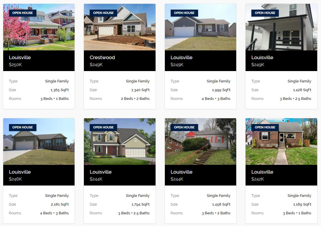 Louisville Open Houses