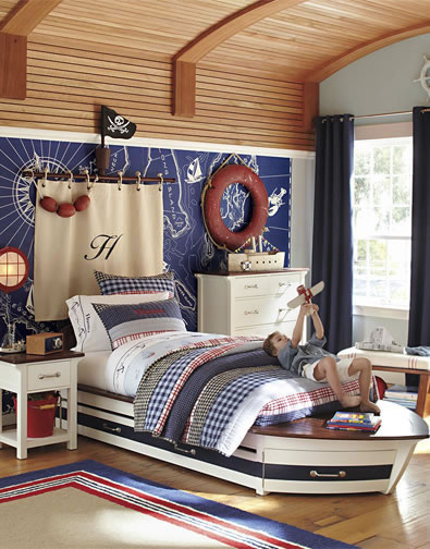 Boys Boat Wall Design