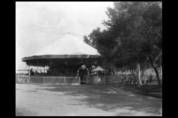 Merry-Go-Round at Manhattan Beach c.1885