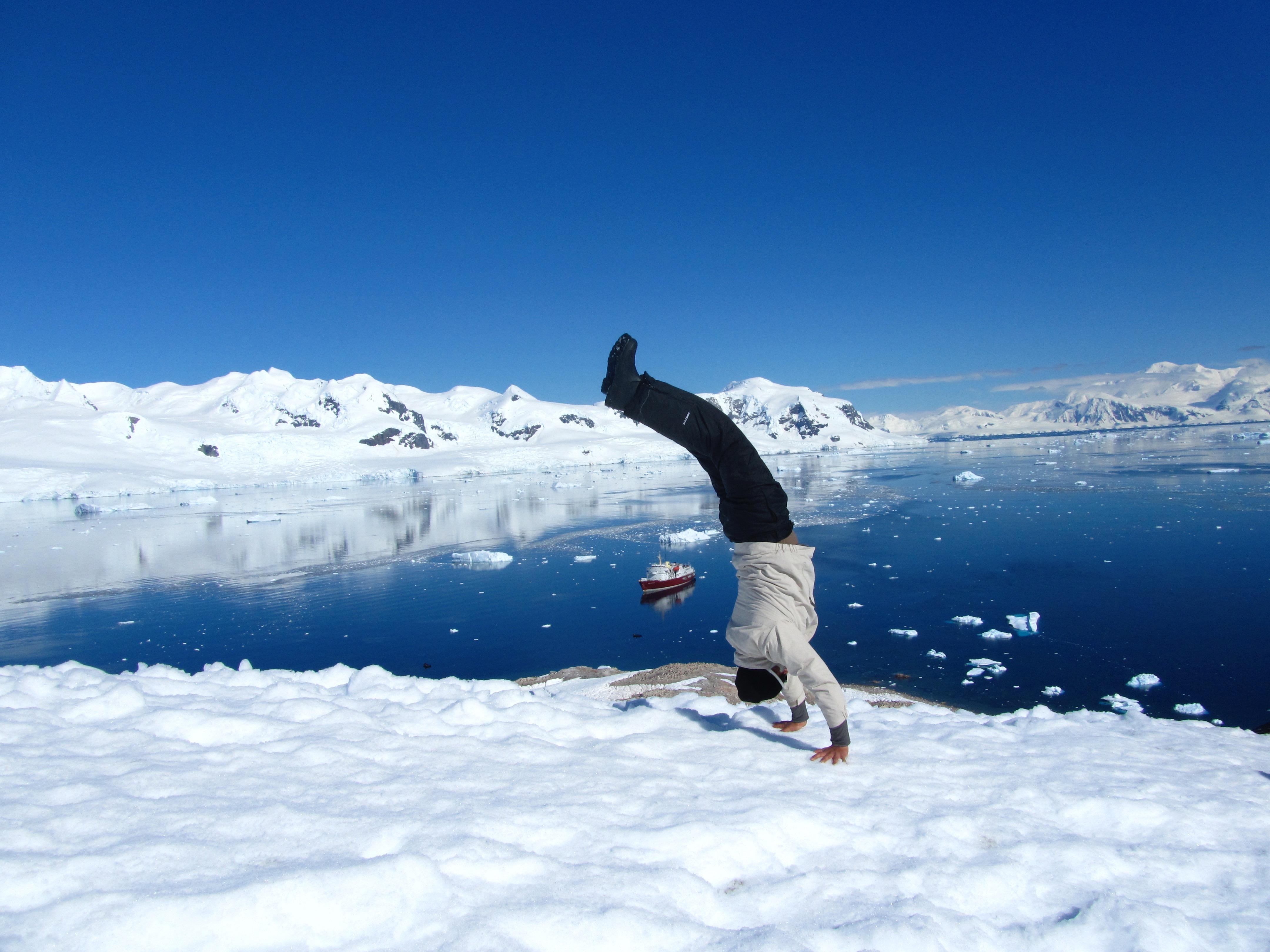 Handstand in Antarctica 2011