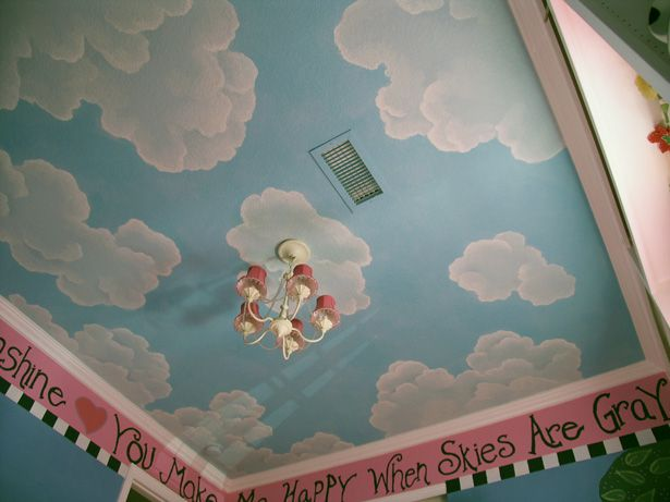 Clouds Ceiling Mural - Lisa Birdsong