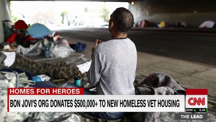 Bon Jovi Donates Money To Homeless Veteran Facility