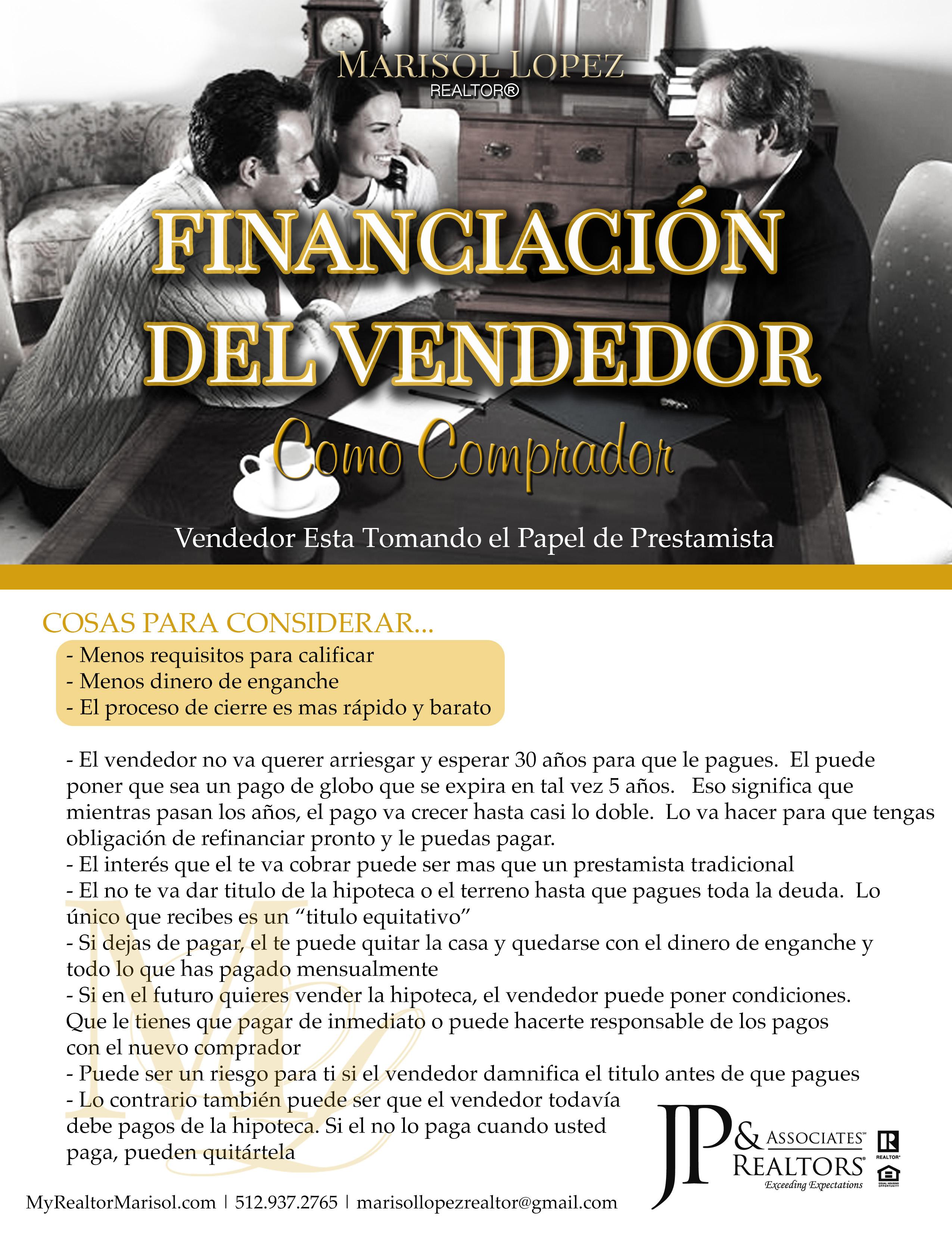 Financiacion Del Vendedor