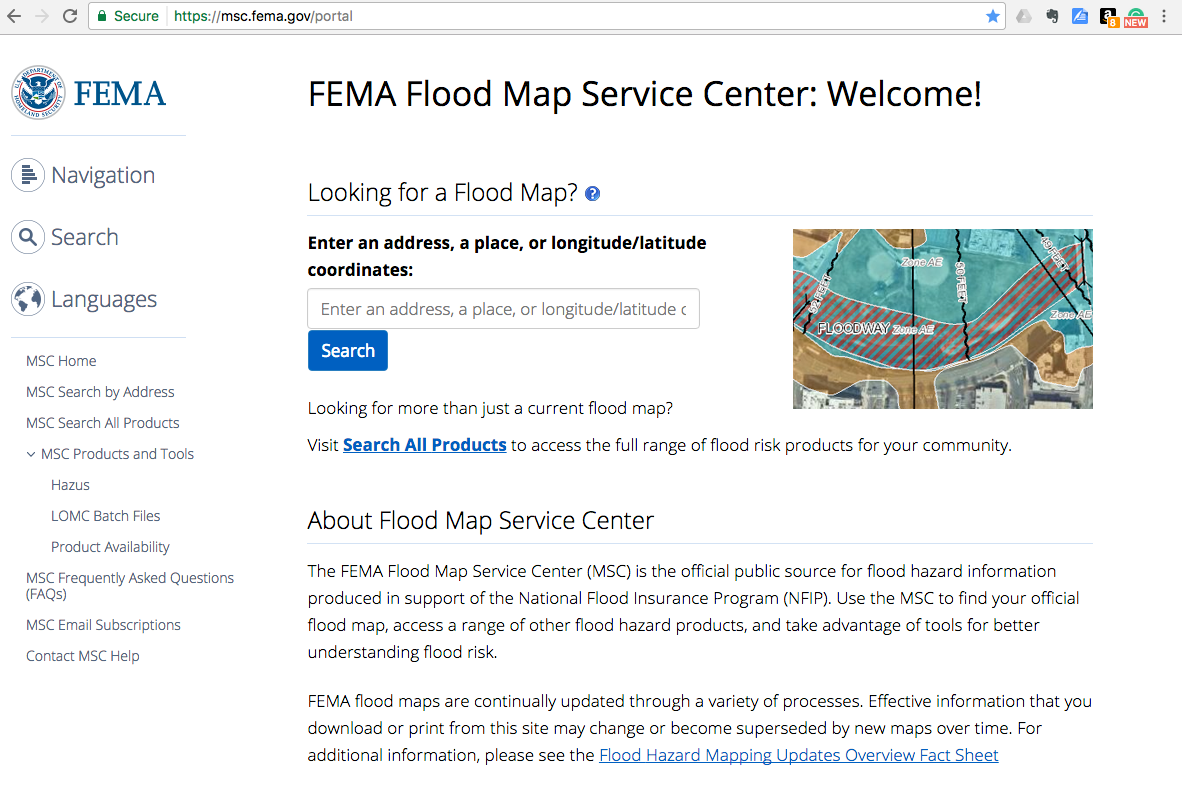 How To Check If A Home Is In A Flood Zone - Flood check map