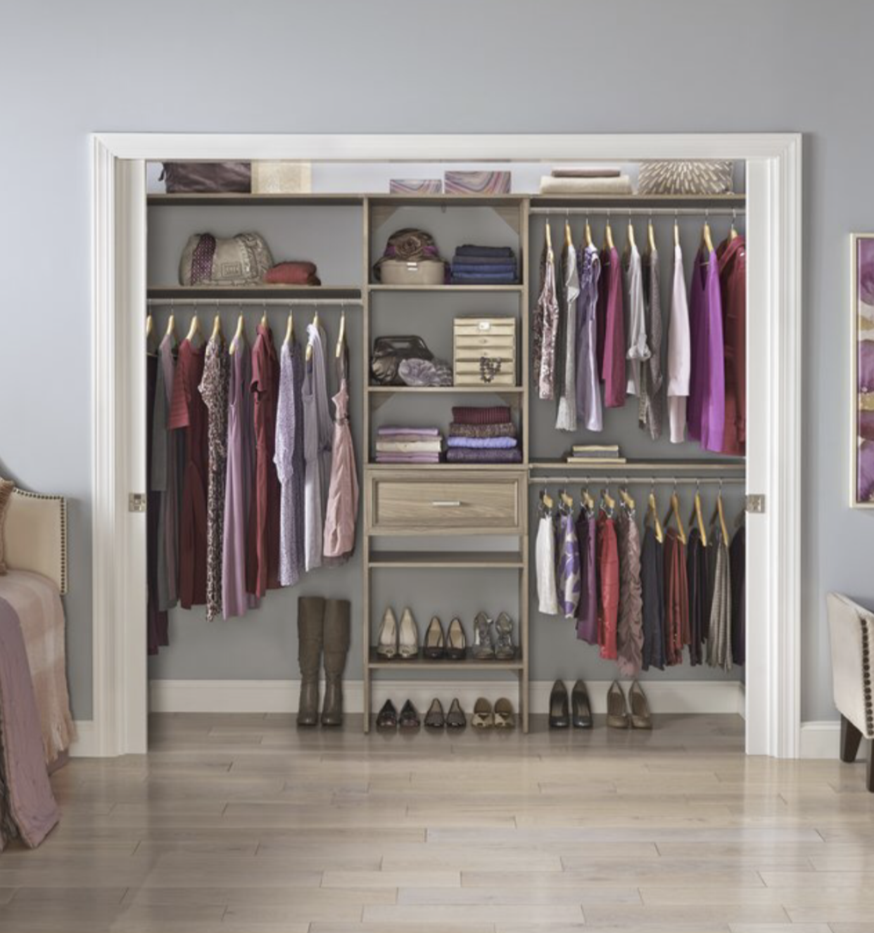 These Examples Are Making Use Of All Of The Closet Space, Floor To Ceiling.  If You Want Me To Take A Look At Your Closet Space, I Could Come By After  ...