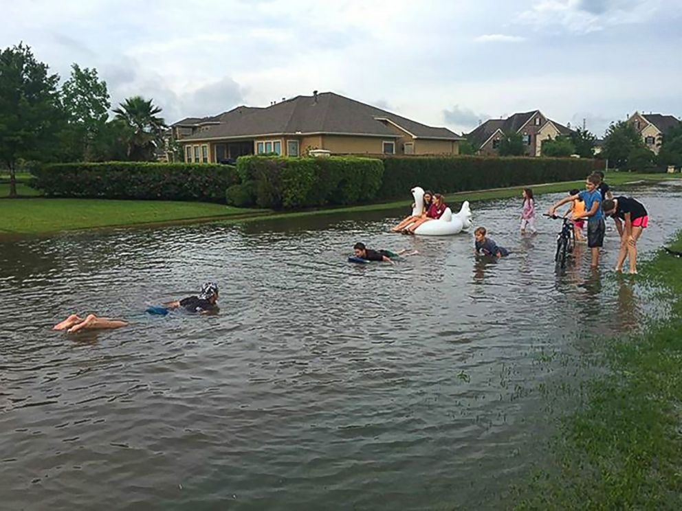 2016 Flooding in Spring, TX neighborhood. Photo credit: ABC News