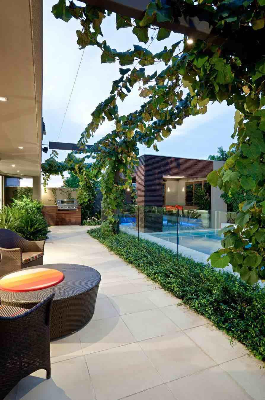 Contemporary Pool Side Veranda