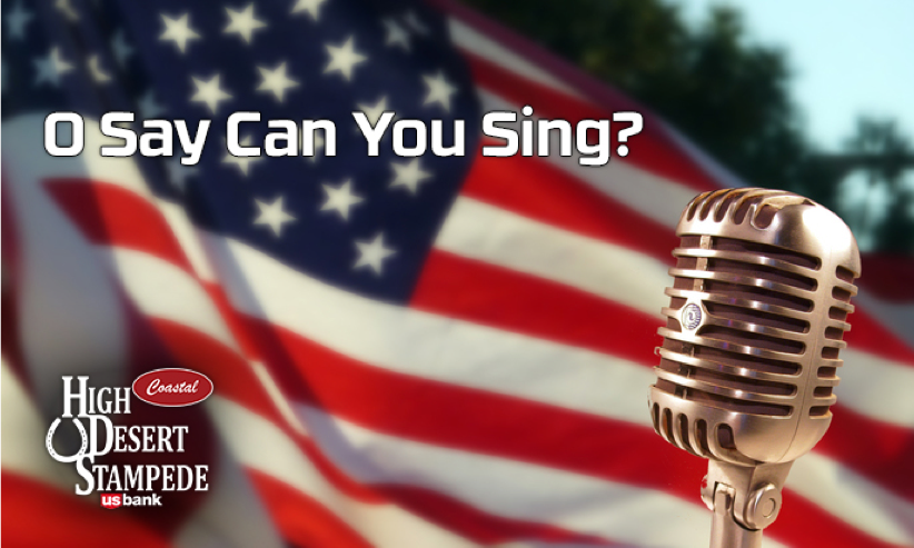 High Desert Stampede National Anthem Singing Contest Sponsored by Trout Realty