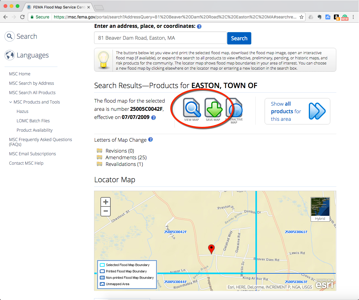 Verify the location in the Locator Map then download the map