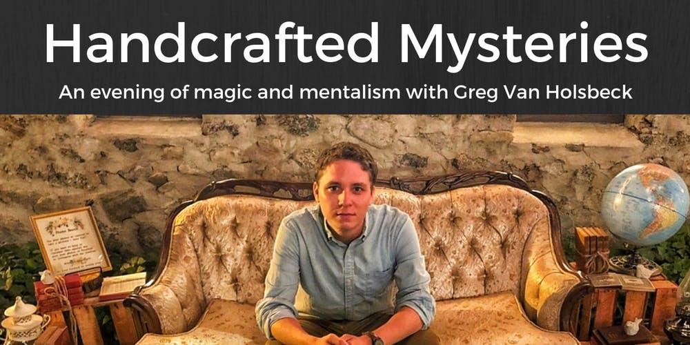 ImageHandcrafted Mysteries: An Evening with Greg Van Holsbeck | Lake Havasu City, AZ title