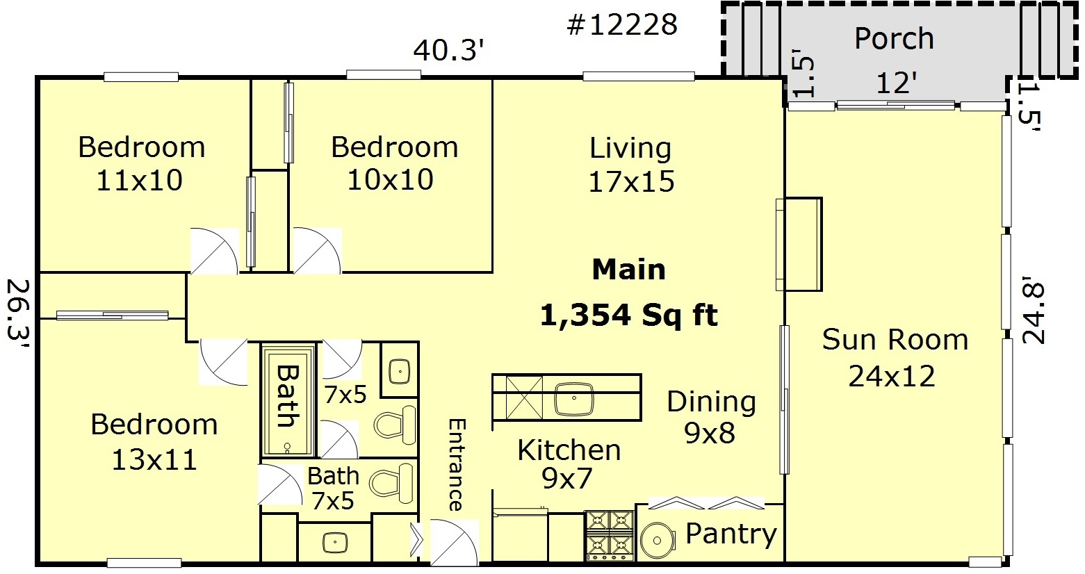 NE Portland Rental Floor Plan