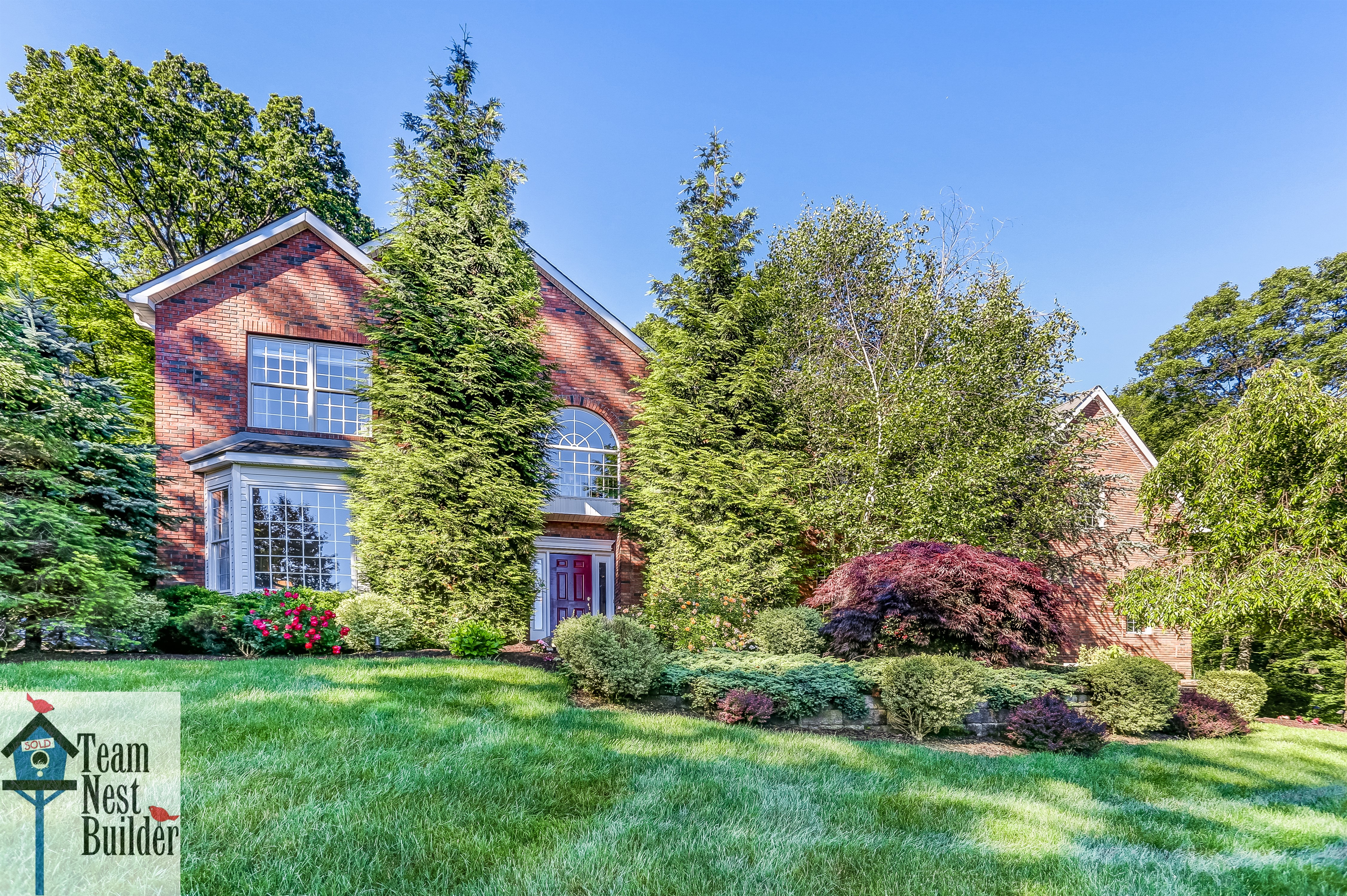 Perched majestically on a hill in the wonderful Glen Brook estates