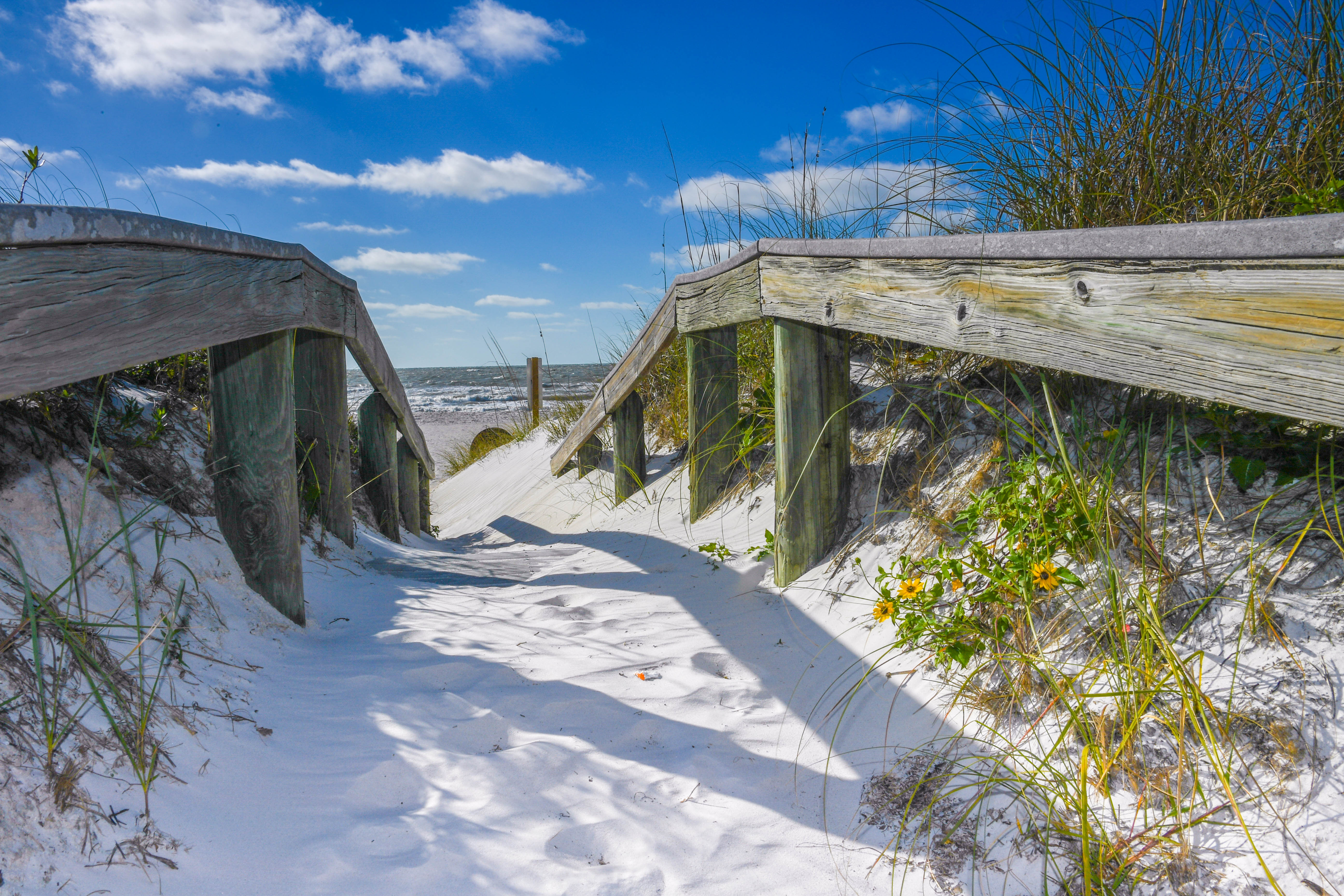Walkway on Pass-a-Grille Beach