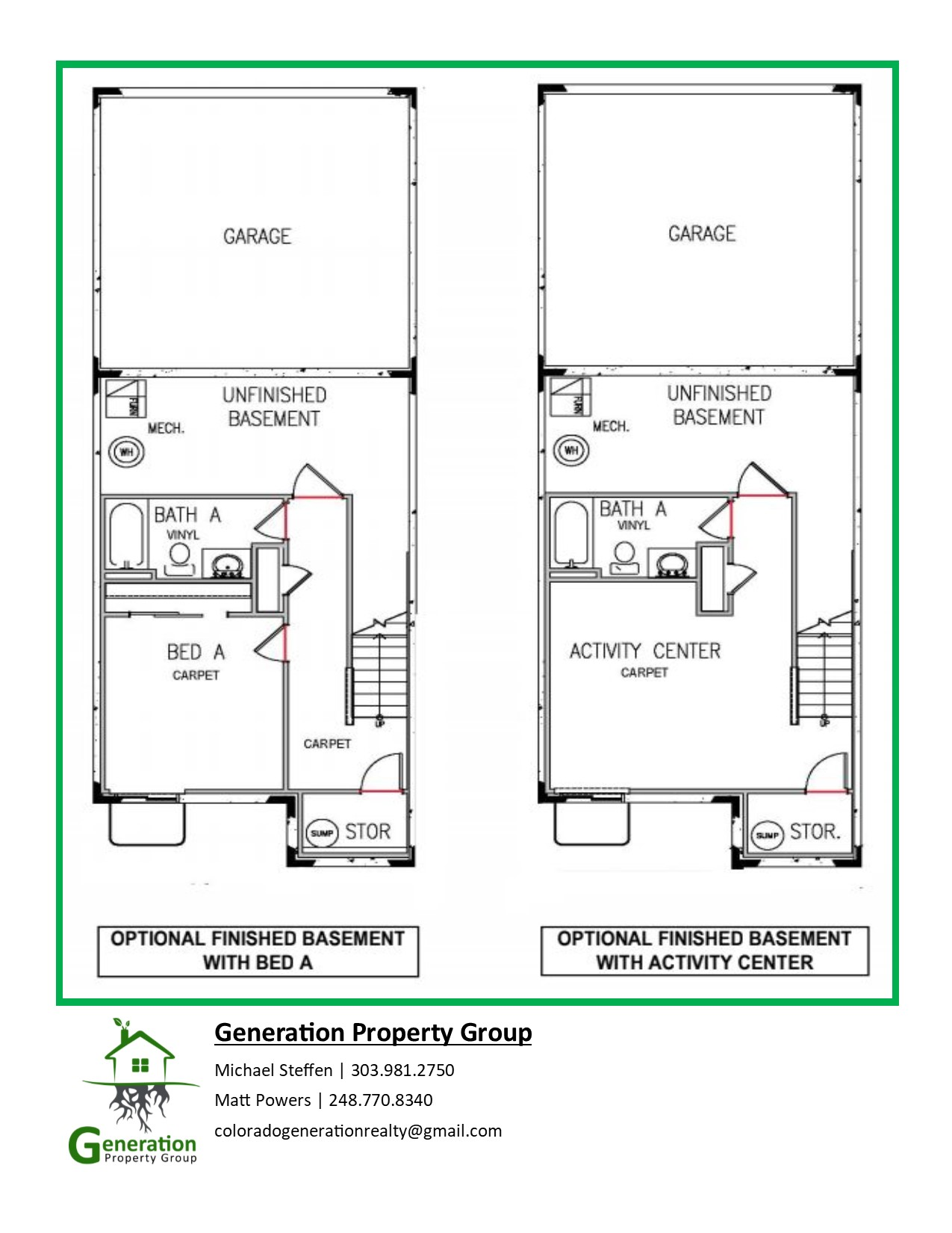 Oakwood townhomes floorplan
