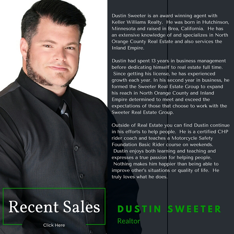 Dustin Sweeter With Keller Williams Realty Norco