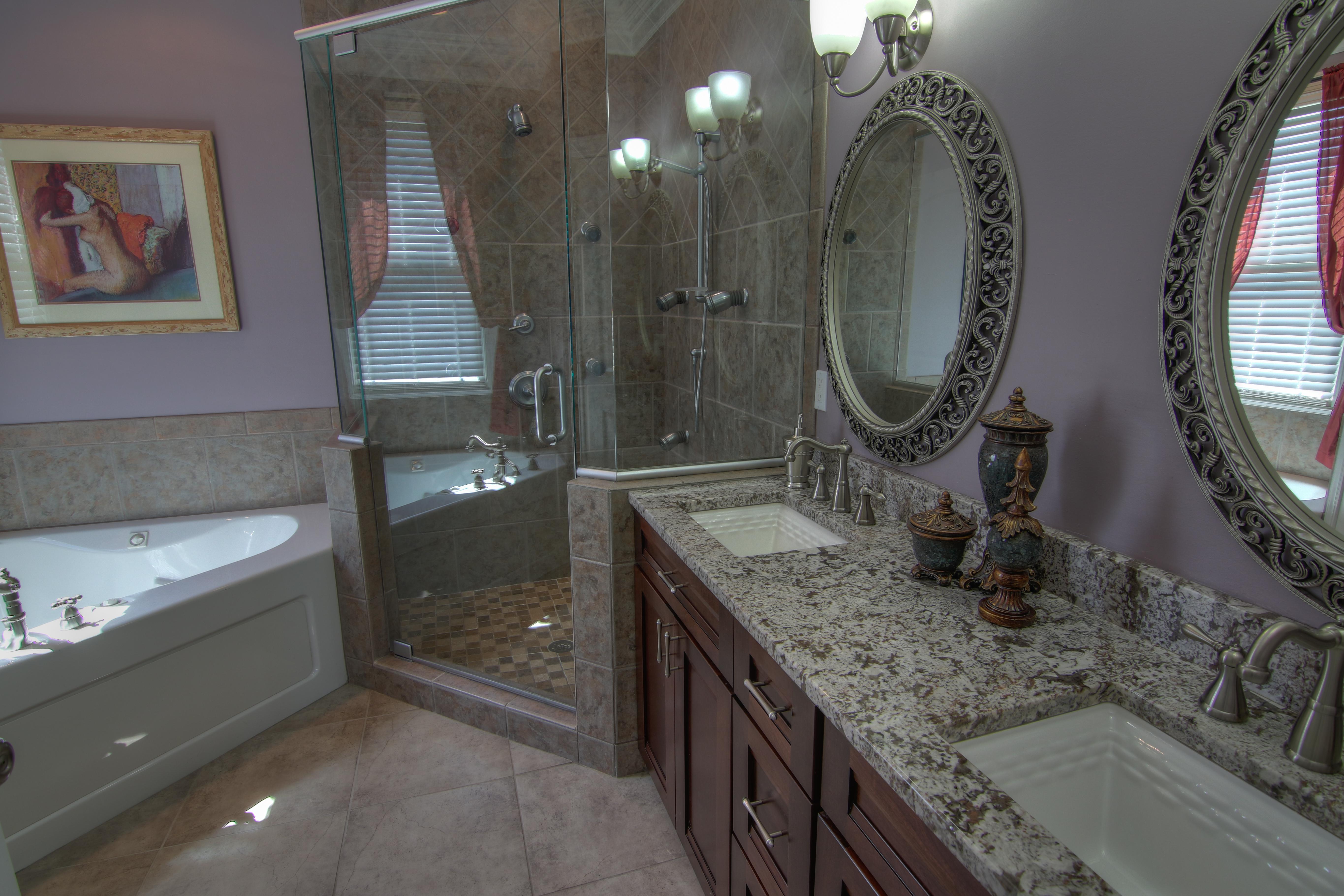 Lavish, spa-like master bath