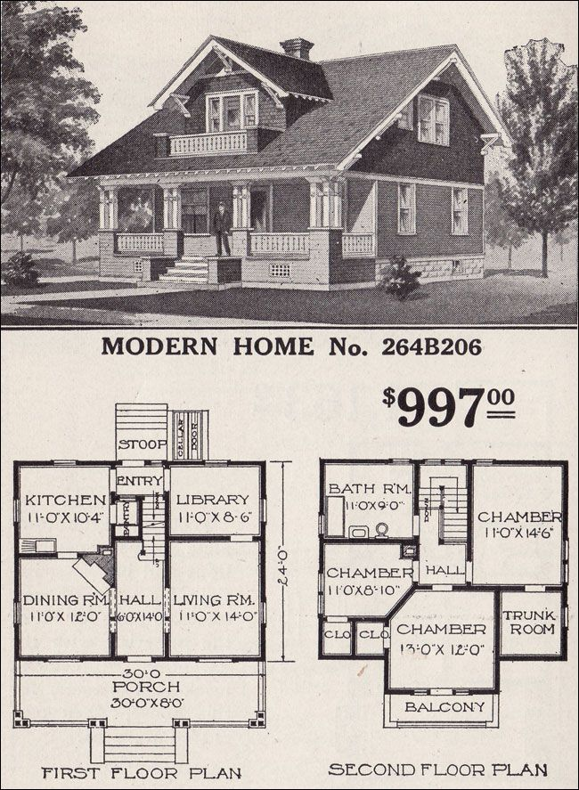 Once upon a time you could buy your house at sears for Purchase house plans