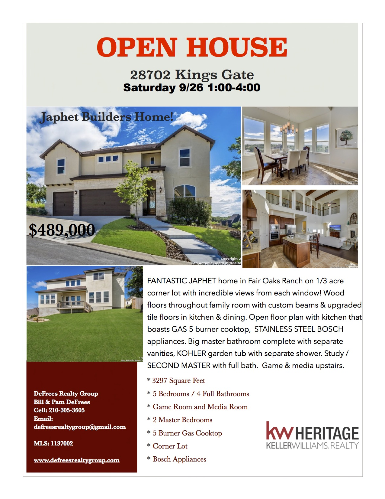Front of 28702 Kings Gate