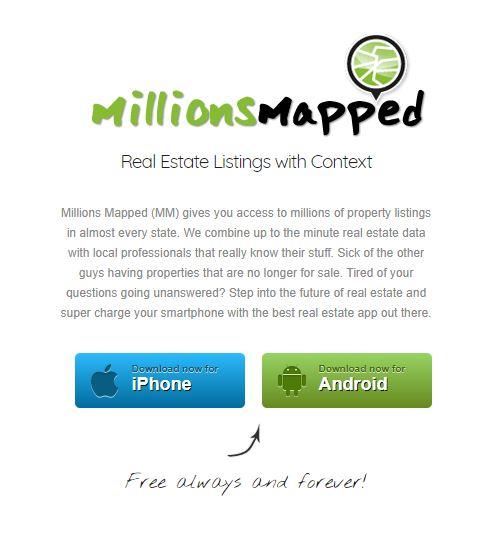 Millions Mapped App