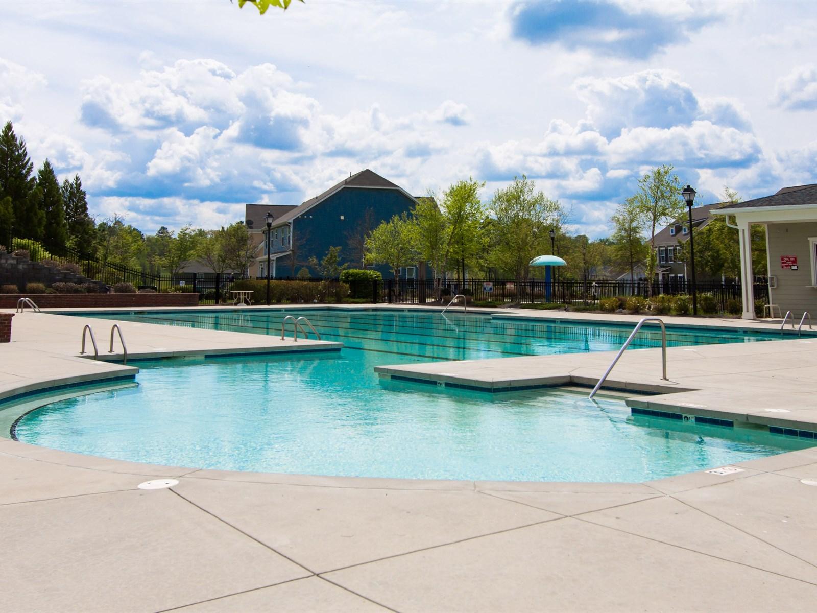Summers walk swim pool
